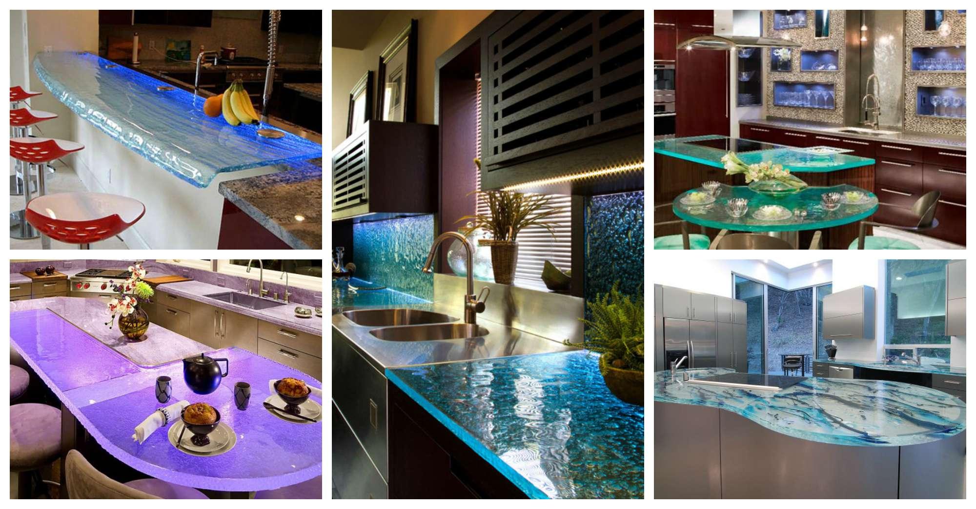 kitchen design glass kitchen countertops Modern Glass Kitchen Countertops