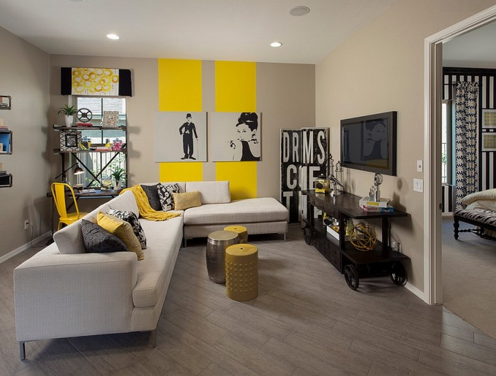 Grey And Yellow Living Room Designs - yellow and grey living room