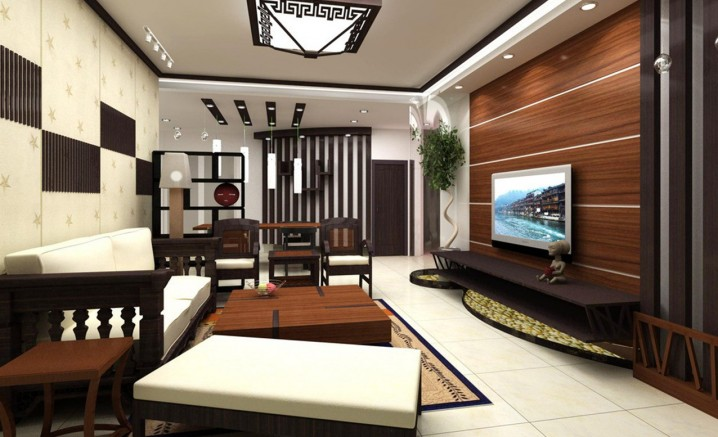 Wooden Wall Panels For A Warm Look Of The Living Room - wood wall living room