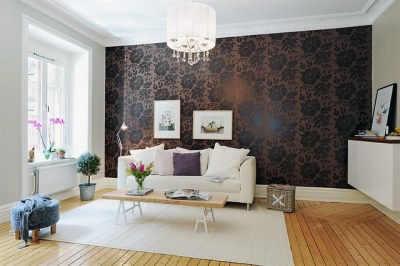 16 Elegant Interiors With Damask Wallpapers