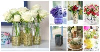 How To Decorate Your Plain Glass Vase And Make It Look ...