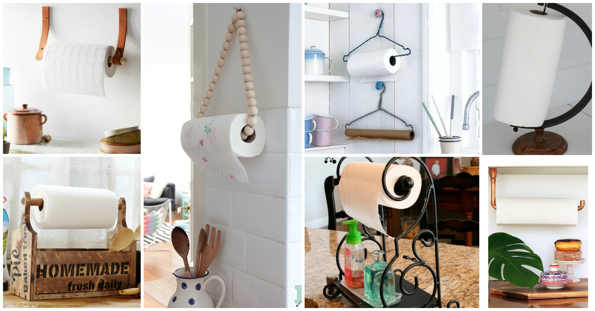 10 Fun Diy Paper Towel Holders For Your Kitchen