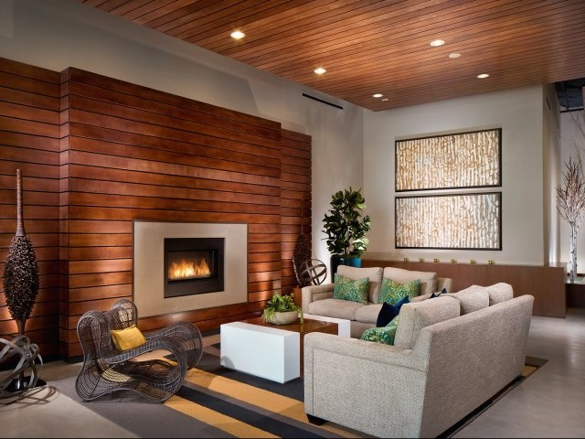 Walls For A Warm Look Of The Living Room - wood wall living room