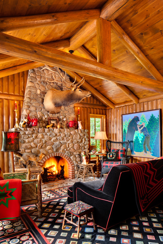 And Warm Log Cabin Living Rooms You Will Fall In Love With - log cabin living rooms