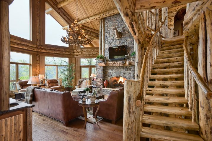 Rustic Fall Desktop Wallpaper Cozy And Warm Log Cabin Living Rooms You Will Fall In Love