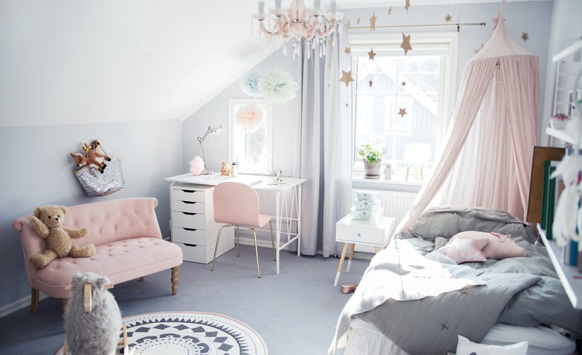 Cute Girl Style Wallpaper Pastel Color Bedroom Will Make Your Little Girl Feel Like