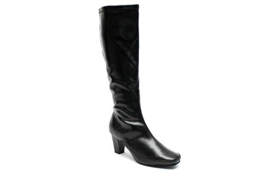 F10329a Womens Black Classic Fashion Knee High Heel Winter