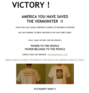 Victory for Vermonster.