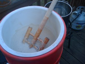 Mmm.. mashing in.