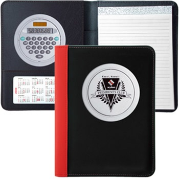 Revolving calculator folio in choice of four colors