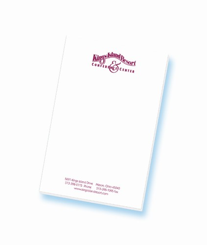 10-sheet custom-printed meeting room note pad, 5-1/2\ - meeting note pad