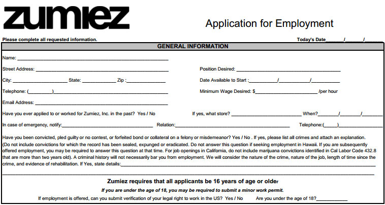Tj Maxx Job Application Fill Online Printable Fillable Online Job Application For Vans Online Application