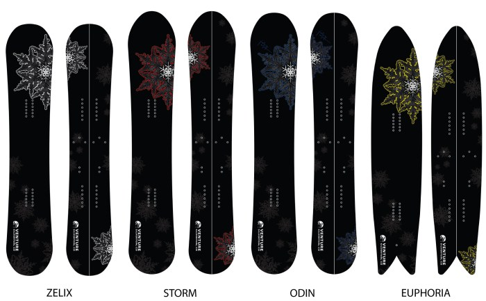 All Venture SnowBoards