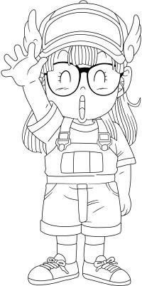 Immagini da colorare di Arale - anime e manga - Topmanga