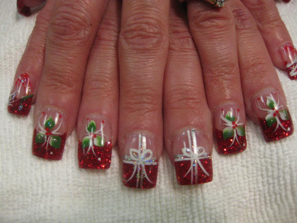 Christmas Holly Nail Art Ivoiregion