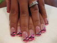 Tijuana Swirl, nail art designs by Top Nails, Clarksville ...