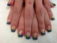 Tiger Stripe Fun, nail art designs by Top Nails ...