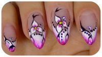 Nail Art Designs Step By Step Using Flowers | Flower Nail ...