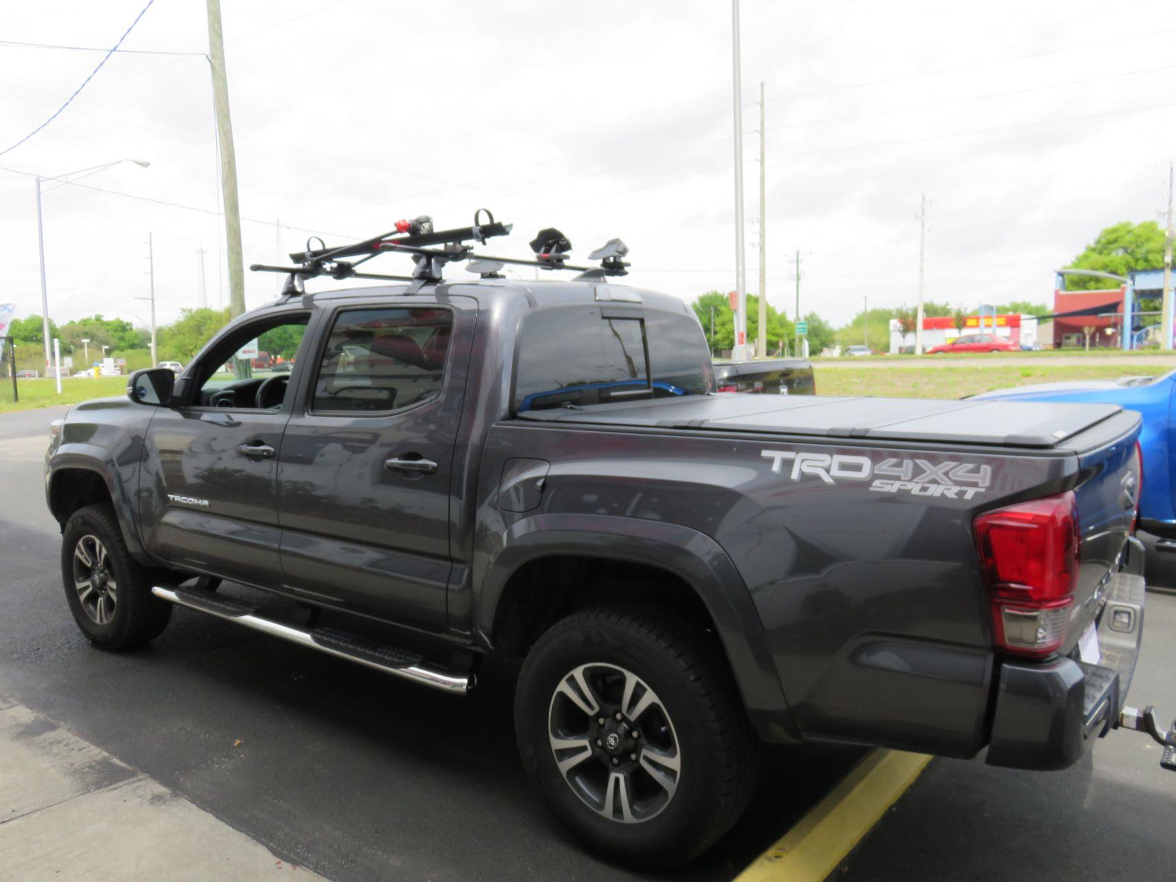 2019 Grey Toyota Tacoma Leer 350m Yakima Roof Rack