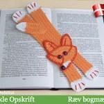 Ræv bogmærke - af Little Owls Hut