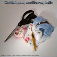 Vejledning - DEL 1 - hæklet pung med foer og bøjle