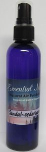 Sandal - Cedar Wood Natural Air Freshener made with Essential Oils - 4oz