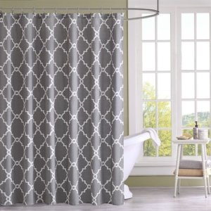 Madison Park Saratoga Shower Curtain - Grey - 72x72