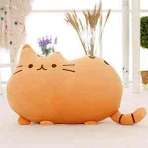 Soft Cute Big Cat Shaped Pillow Cushion Sofa Decoration Stuffed Toys Doll Home Decor Orange