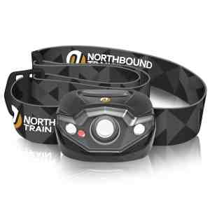 Ultra-Bright LED Headlamp Flashlight with White, Red, Strobe light and Dimmer - Only 3.2oz ideal for Running, Camping, Hunting, and More. Waterproof IPX4 wit