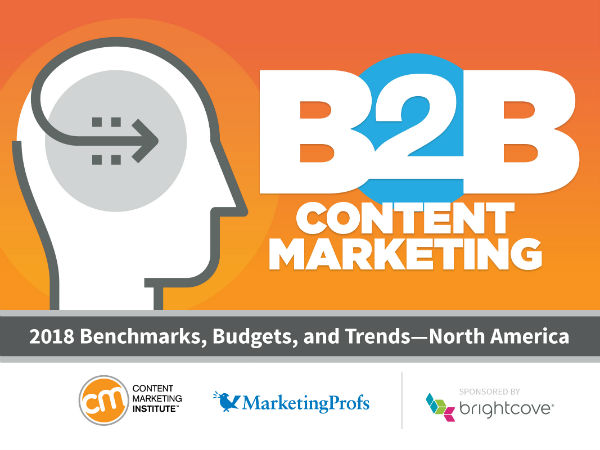 2018 B2B Content Marketing Report CMI  MarketingProfs