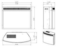 "AKDY 28"" Black Electric Firebox Fireplace - In-Depth Review"