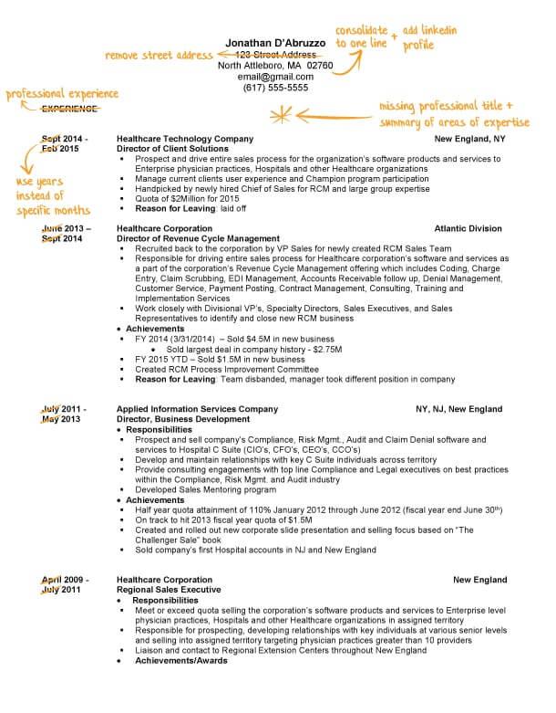 Sales Resume Writing Example Success Story TopResume