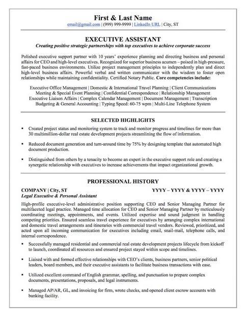 personal assistant sample resume - Forteeuforic