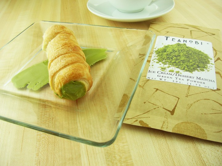 japanese green tea and cream horn