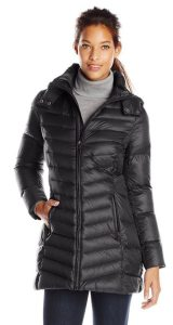 7. Tommy Hilfiger Women's Mid-Length Packable Down Coat with Hood