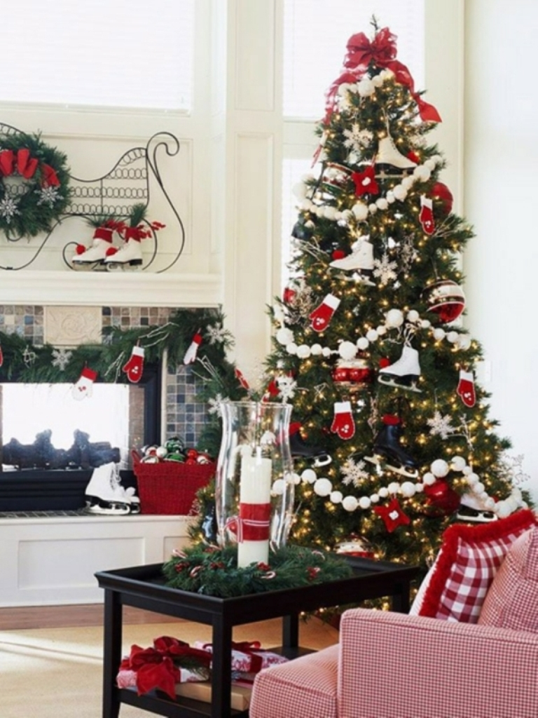 Purple christmas tree decorating ideas - Luxury Purple Christmas Tree Decorations Christmas Tree Decorations Red White Ornaments Ice Skates Download