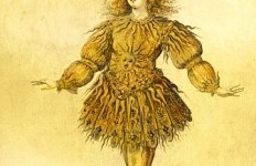 XIR394980 King Louis XIV of France in the costume of the Sun King in the ballet 'La Nuit', 1653 (later colouration)  by French School, (17th century); Bibliotheque Nationale, Paris, France; French, out of copyright