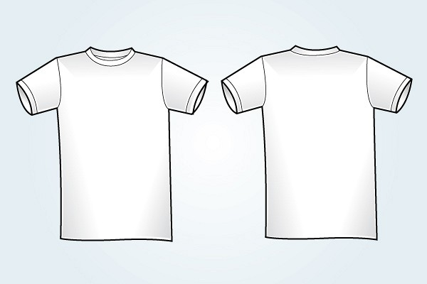 Blank White T-Shirt Template TopVectors - t shirt template