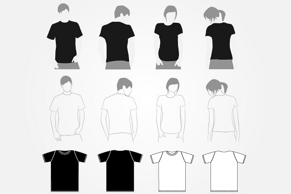 Vector T-shirt Template Set TopVectors - t shirt template