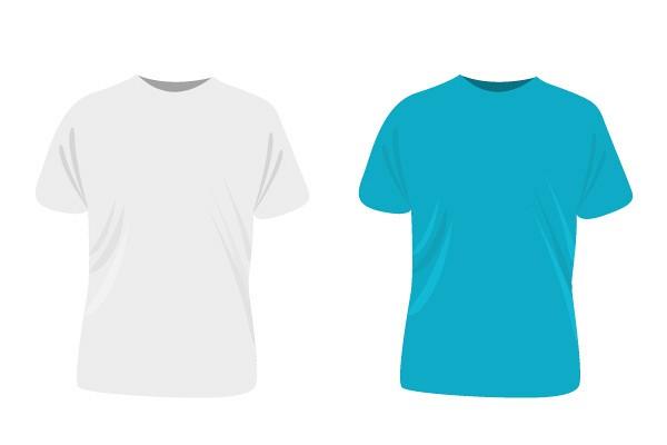 Plain White T-shirt Template TopVectors - t shirt template