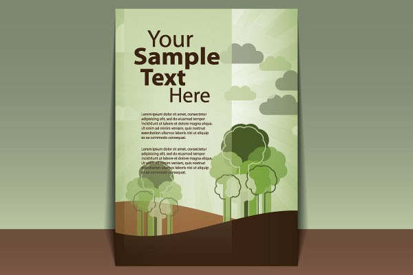 Green Cover Page Vector Template TopVectors - cover page templates