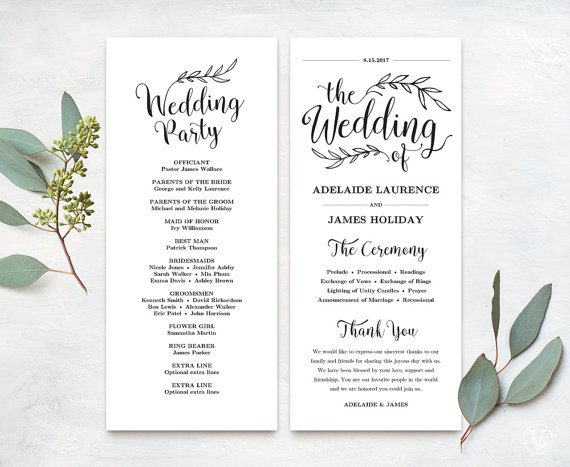 Free Wedding Program Templates Wedding Program Ideas - wedding program