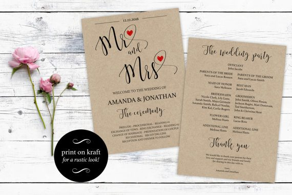 Free Wedding Program Templates Wedding Program Ideas - wedding program template