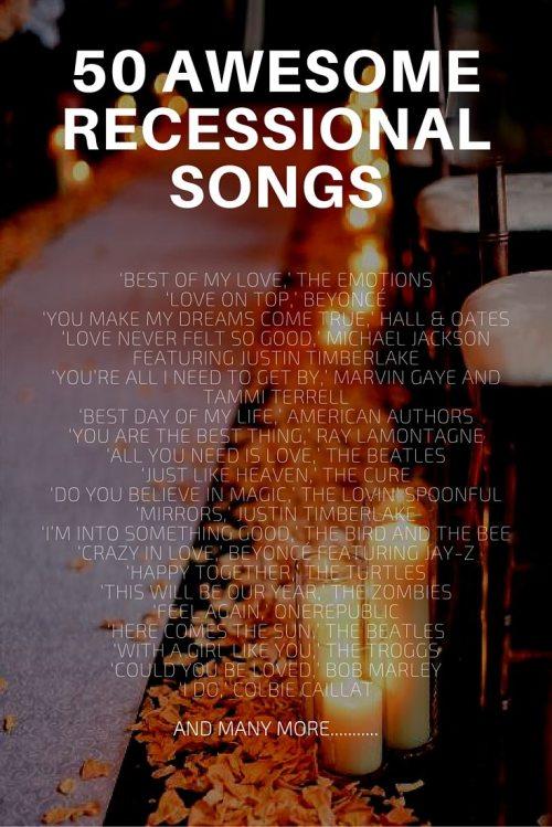 Medium Of Wedding Recessional Songs