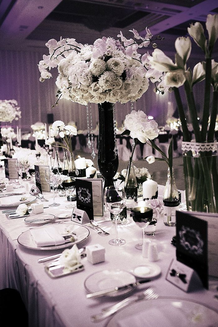 From 40s Fantasy to Designer Deco the New Black and White Wedding - wedding photo black and white