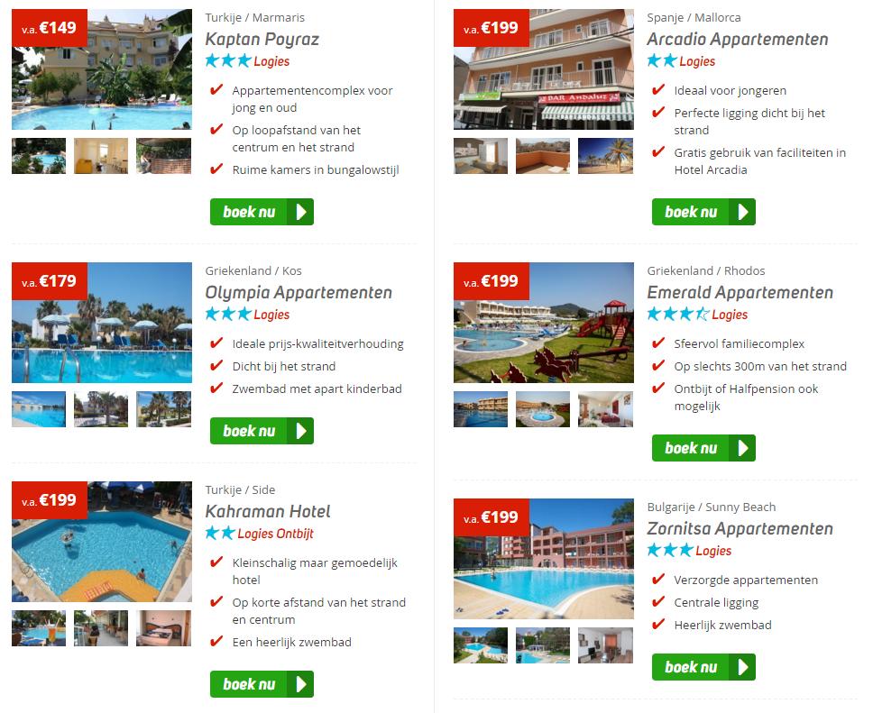 Crazy Deals bij Corendon! Complete vakanties naar Spanje, Turkije, Griekenland en Portugal va slechts €149,- pp