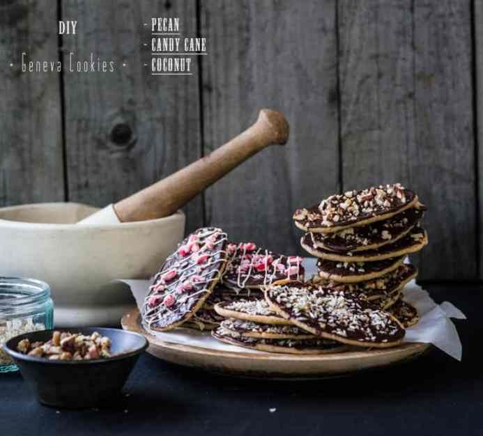 DIY Geneva Cookies - Pecan / Candy Cane / Coconut