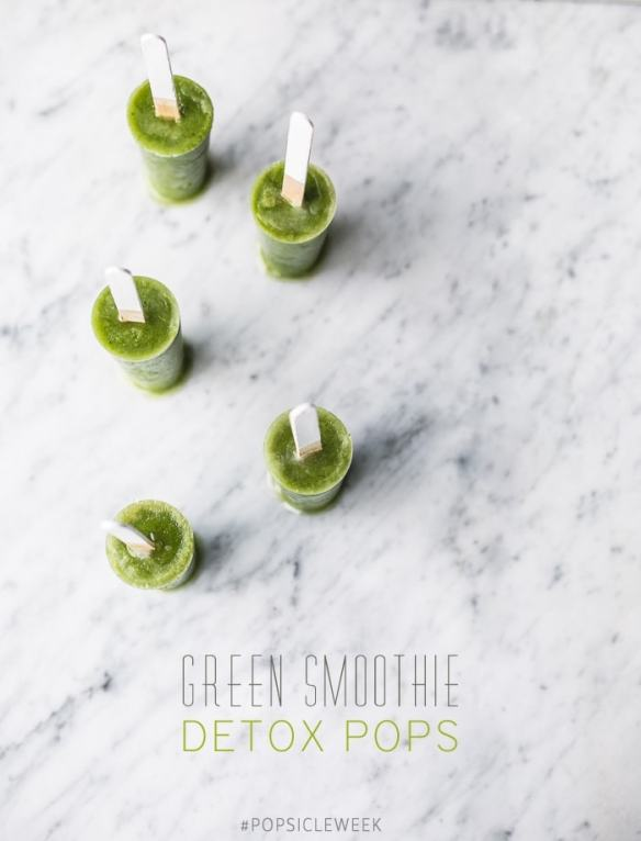 Green Smoothie Detox Pops { for #popsicleweek }