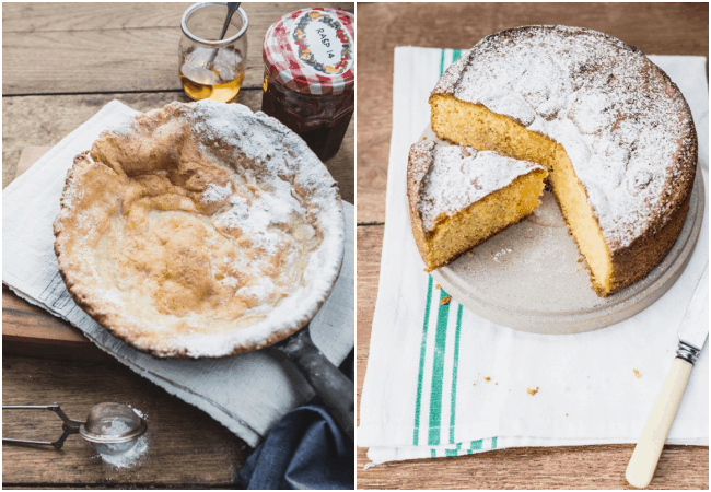 Flourless Lemon cake + Dutch Baby Pancake