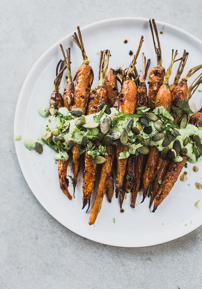 Roasted Carrots with Black Garlic & Herb Yoghurt 3